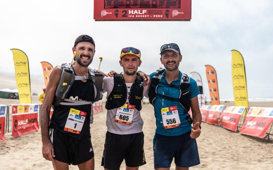 Chencho Yánez y Emily Sabo lideran el Half Marathon des Sables Perú 2019