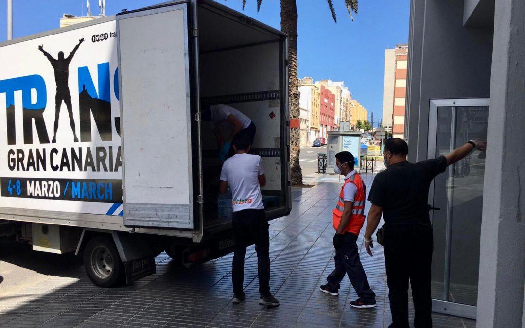 Arista Eventos dona productos y alimentos para Telde y Las Palmas de Gran Canaria